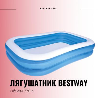#54006 ЛЯГУШАТНИК BESTWAY 262 х 175 х 51 СМ