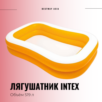 #57181 ЛЯГУШАТНИК INTEX 229 х 147 х 46 СМ